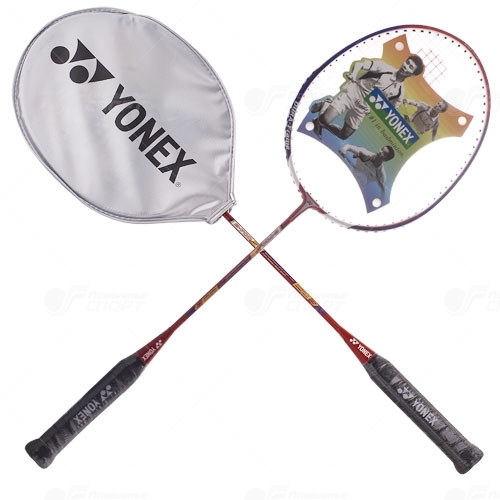 Ракетка бадминтон Yonex арт.B-700 DF white/orange