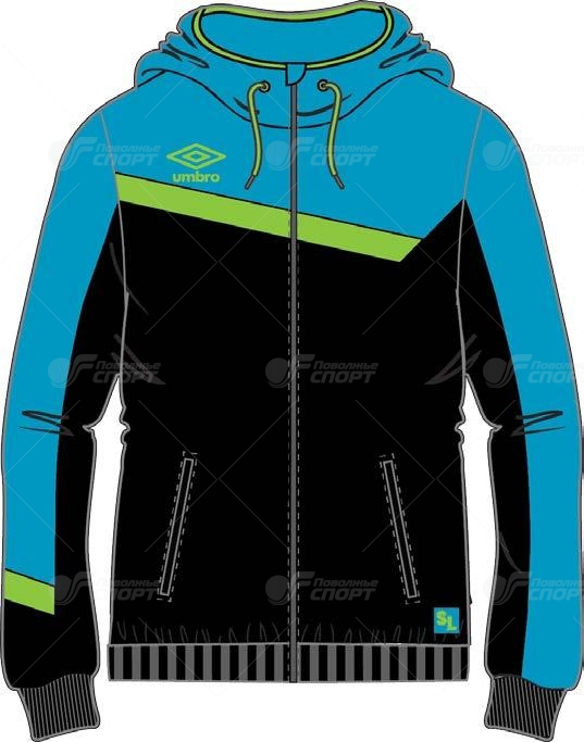 Толстовка муж. Umbro SL Full Zip Hooded Top арт.361414 р.S-XXL